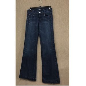 7 For All Mankind Dojo Wide Leg Distressed Jeans